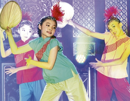 The popular fan dance, an integral part of Chinese dance culture.